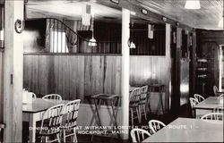 Dining Booths at Witham's Lobster Pound