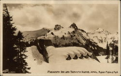 Paradise Inn and Tatoosh Range, April