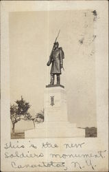 New Soldiers Monument Postcard