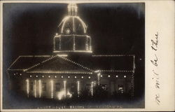 Court House at Night, Broome County Centenial Postcard