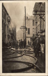 Fighting a Building Fire Circa 1919
