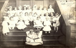 Group of Children on Front Stoop