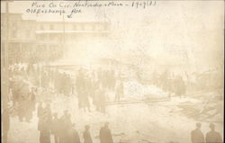 Fire on Corner Nanticoke & Main - 1909