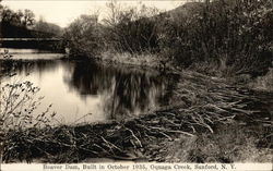 Beaver Dam, Built in October 1935, Oquaga Creek