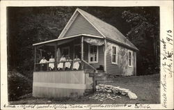 Women on Cabin Porch