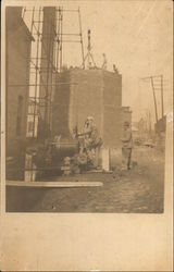 Starting Construction, Smokestack of Endicott Johnson & Co