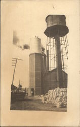 Smokestack Under Construction Endicott Johnson & Co