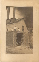 Men Constructing Large Smokestack, Endicott Johnson & Co