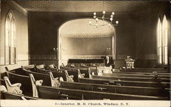 M. E. Church - Interior Postcard