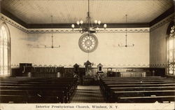 Presbyterian Church - Interior Postcard
