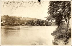 Bridge Over River Postcard