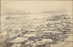 Chenango Bridge After It Was Torn from Abutments