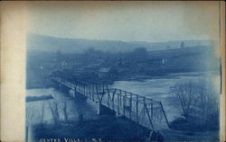 View of Bridge and Town Postcard