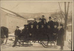 Group of Men and Boys on Sleigh