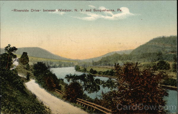 Riverside Drive between Windsor, NY and Susquehanna Pennsylvania