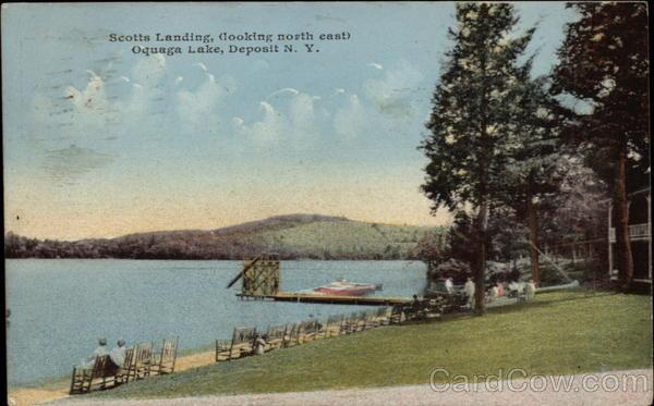 Scotts Landing Looking North East Oquaga Lake Deposit Ny