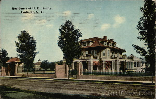 Residence of H. E. Bundy Endicott New York