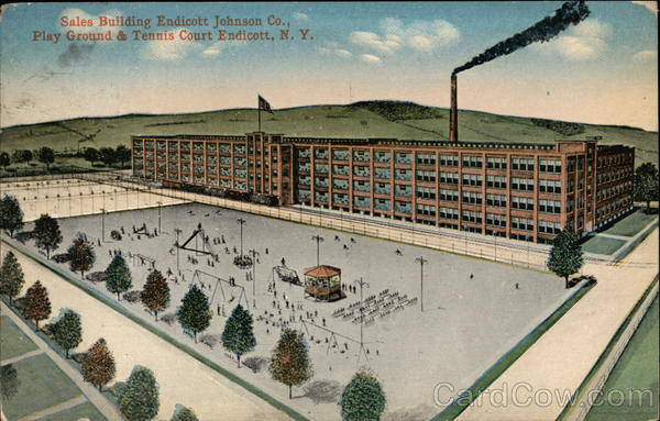 Endicott-Johnson Co. - Sales Building, Play Ground and Tennis Court New York