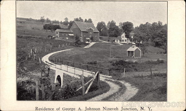 Residence of George A. Johnson Nineveh Junction New York