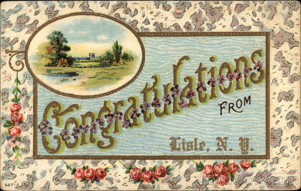 Congratulations from Lisle New York