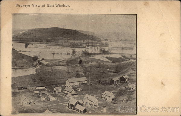 Bird's Eye View of Town East Windsor New York