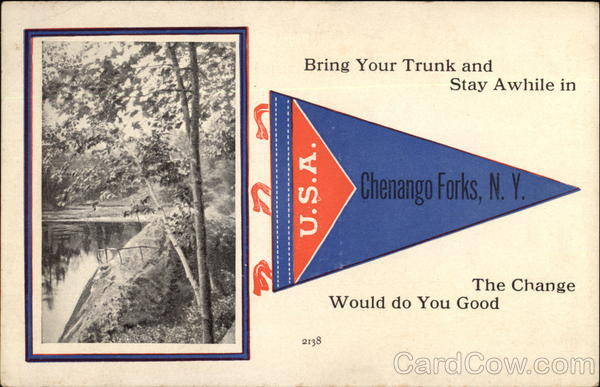 Bring your trunk and stay awhile in Chenango Forks New York