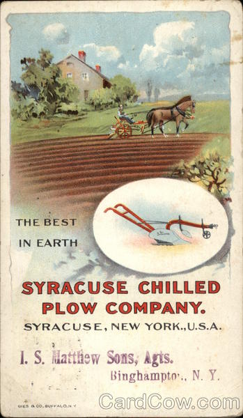 Syracuse Chilled Plow Company New York Advertising