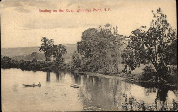 Boating on the River Whitneys Point New York
