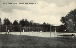 Scott's Tennis Courts, Oquaga Lake