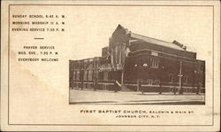 First Baptist Church, Bladwin & Main St