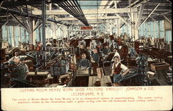 Cutting room heavy work shoe factory, Endicott Johnson & Co