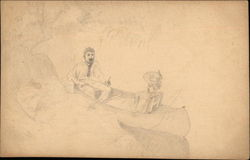 Man and Woman in Canoe