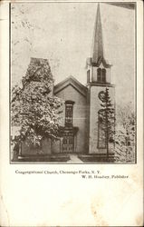View of Congretational Church Postcard