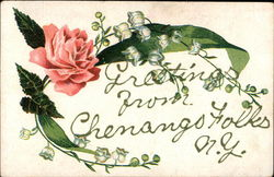 Greetings - Flowers Postcard