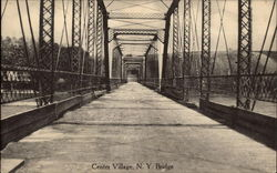 Looking Along Bridge Postcard