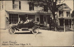 View of Hallock's Store Postcard