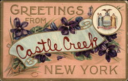 Greetings from Castle Creek, New York