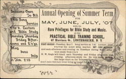 Practical Bible Training School - Opening of Summer Term