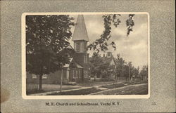 M. E. Church and Schoolhouse