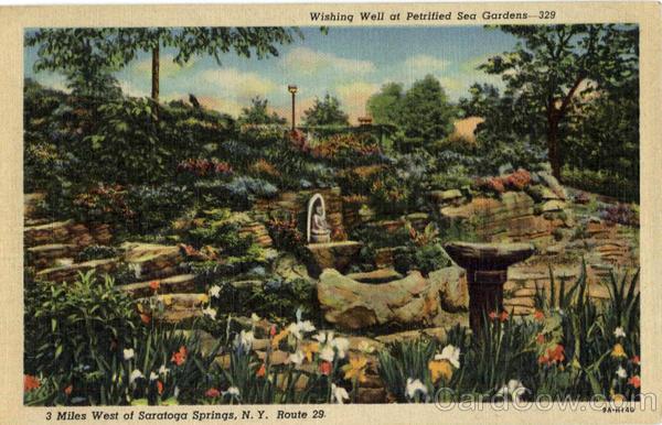 Wishing Well At Petrified Sea Gardens Saratoga Springs Ny
