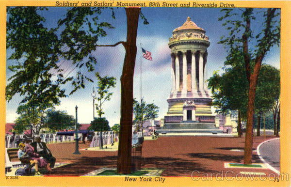 Soldiers' and Sailors' Monument, 89th Street, Riverside Drive New York City