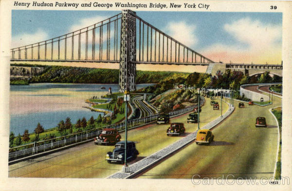 Henry Hudson Parkway and George Washington Bridge New York City