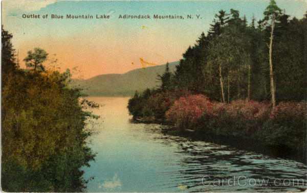 Outlet of Blue Mountain Lake Adirondack Mountains New York
