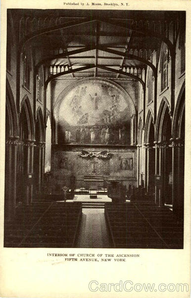 Interior of Church of the Ascension, Fifth Avenue New York City