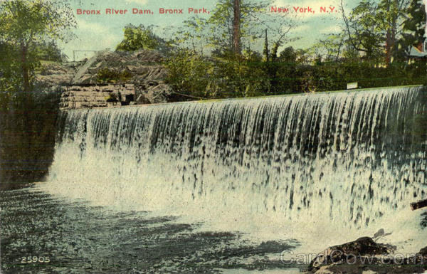 Bronx River Dam, Bronx Park New York City