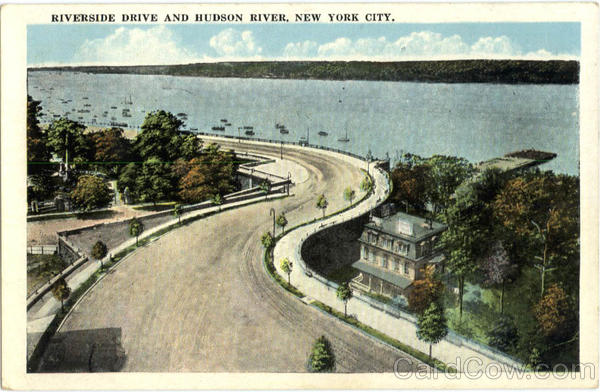 Riverside Drive and Hudson River New York City