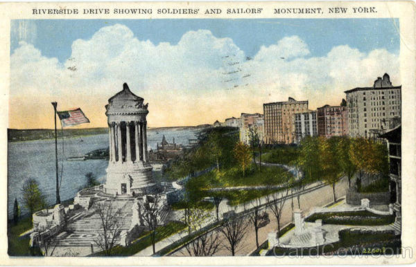 Riverside Drive Showing Soldiers' and Saillors' Monument New York City
