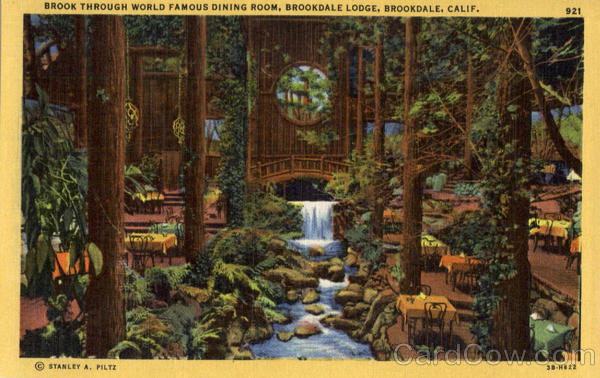 Brook Through World Famous Dining Room, Brookdale Lodge California