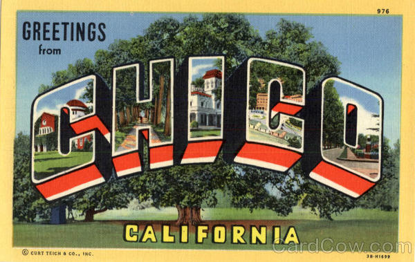 Greetings from Chico California Large Letter
