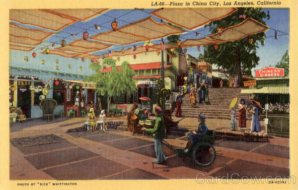 Plaza in China City Los Angeles California